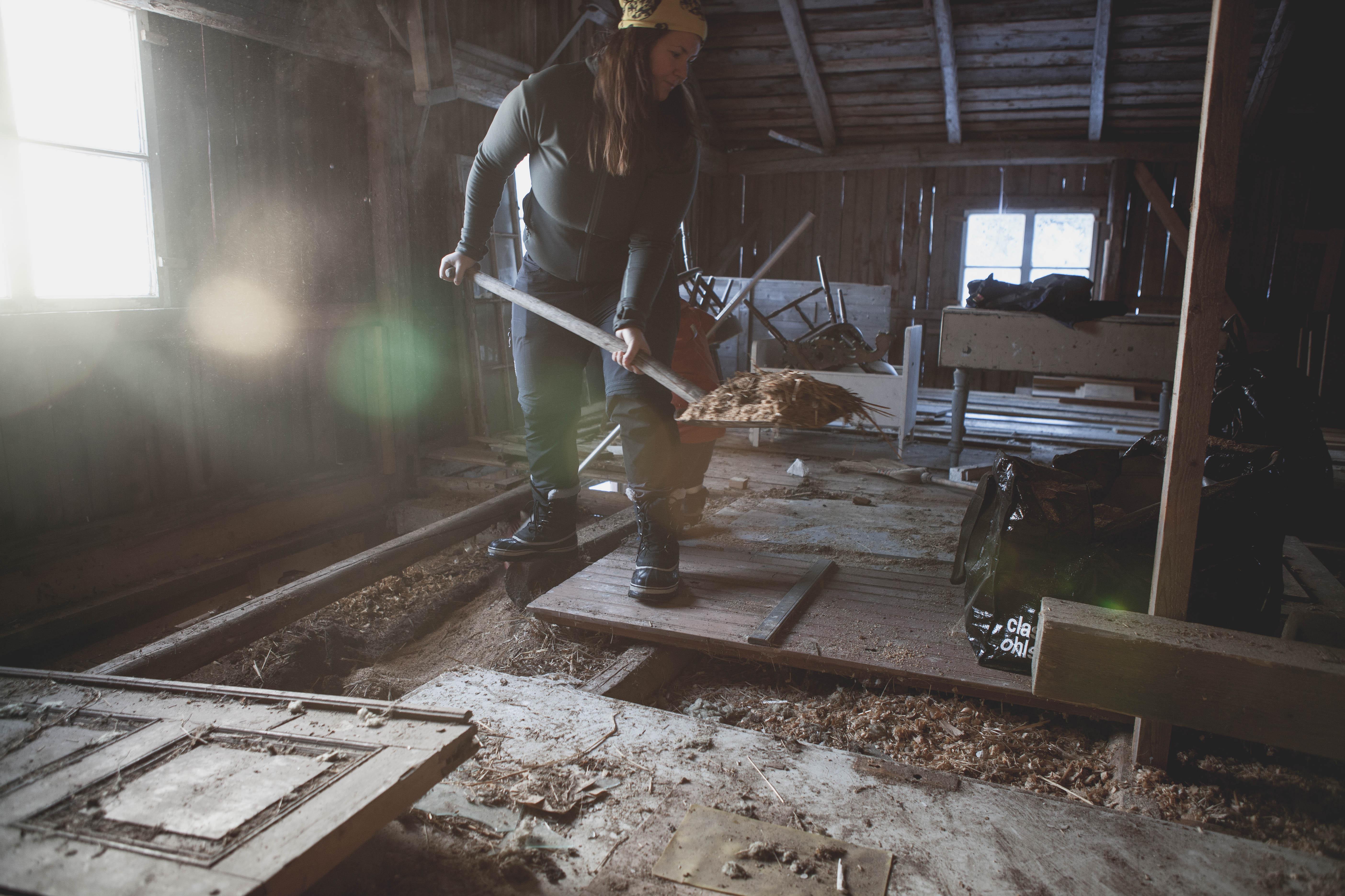 Renovering i ladugården